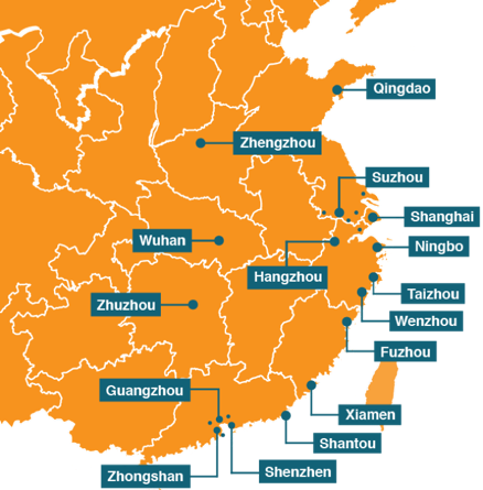QCP's presence in China